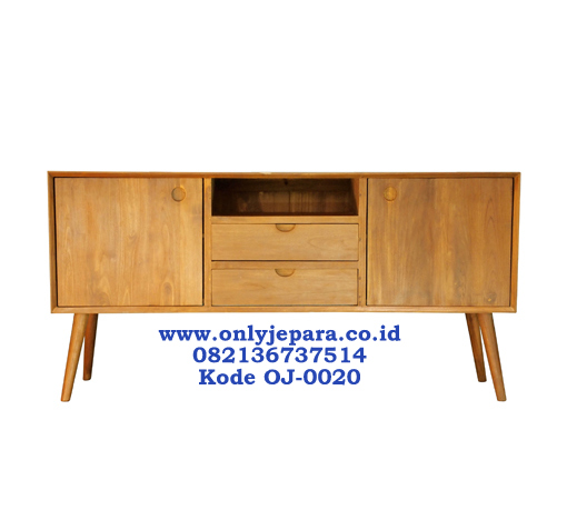Bufet Tv Minimalis Scandinavian Teak Wood
