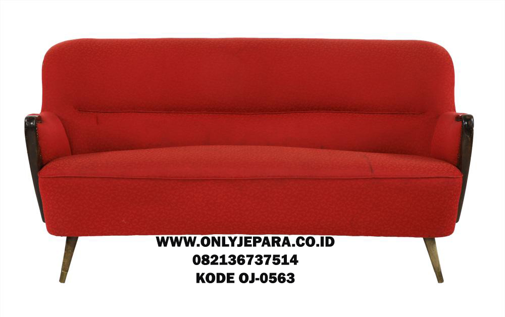 Sofa Tamu Retro Terbaru Red Bludru